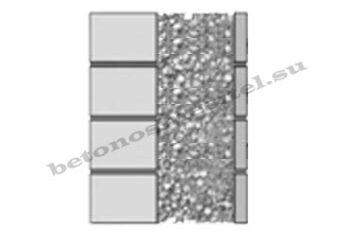 заполнение пенополистиролбетоном многослойных стен
